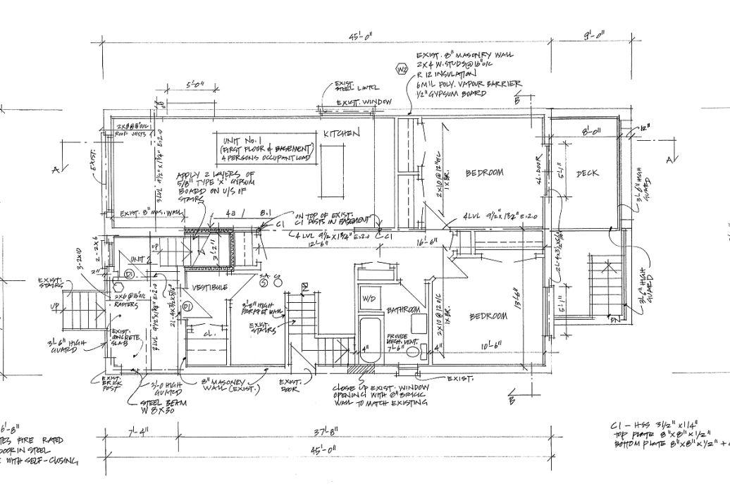 建筑平面图楼梯图例
