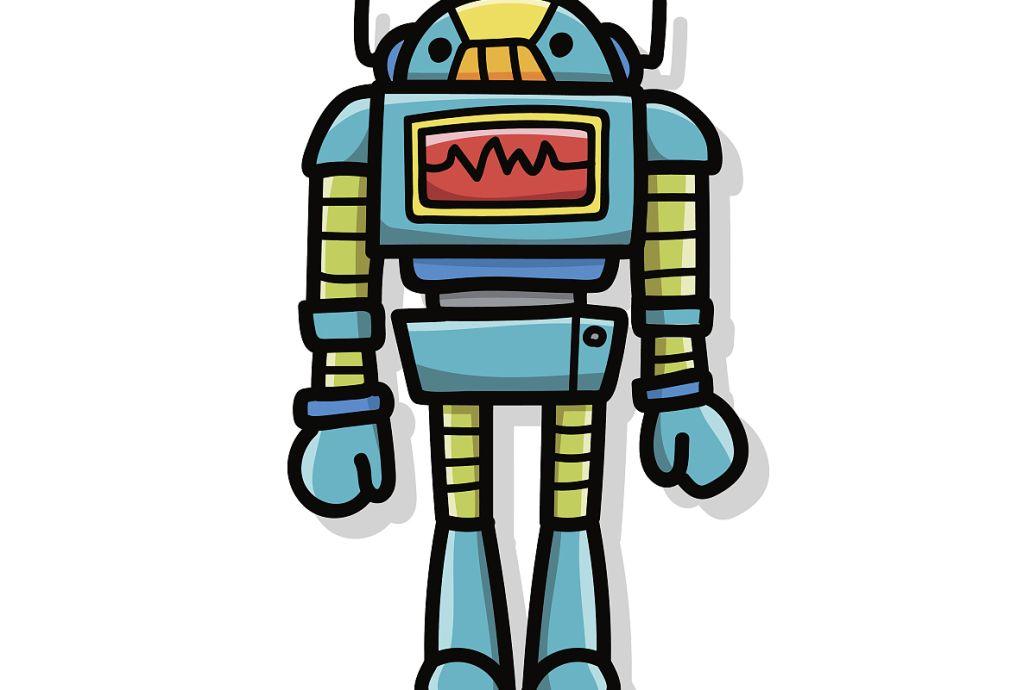 科幻绘画未来的机器人作品介绍