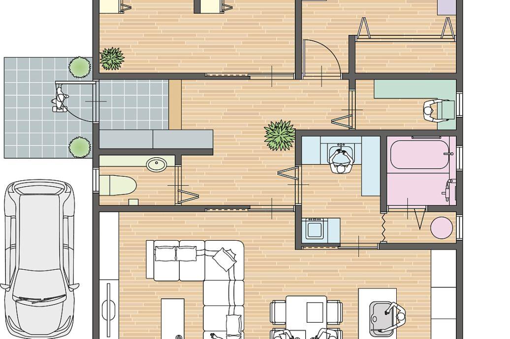 农村12.8乘9.8米房屋设计图两层半